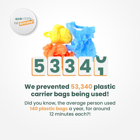 We've saved 53,340 carrier bags