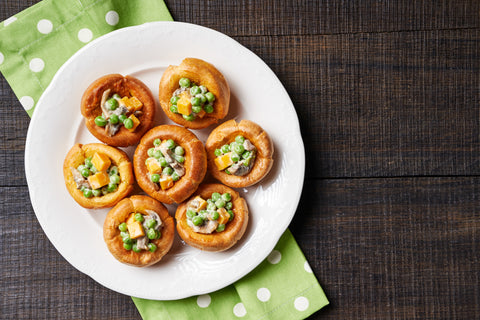 Yorkshire puddings with a vegetable filling