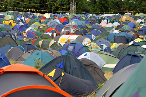 Tents at a music festival