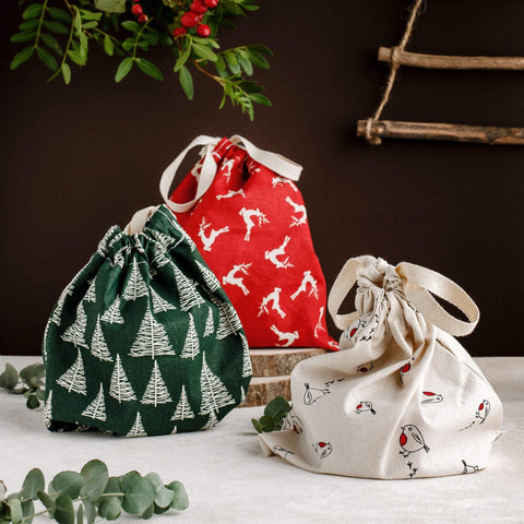 Reusable Cotton Gift Bags by UK company, Tabitha Eve