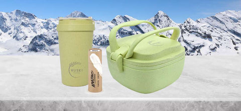 travel coffee cups and lunch boxes