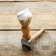 Shaving Brush with Ash Wood Handle