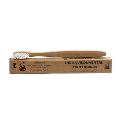 The Environmental Toothbrush - Bamboo Toothbrush - Soft Bristles