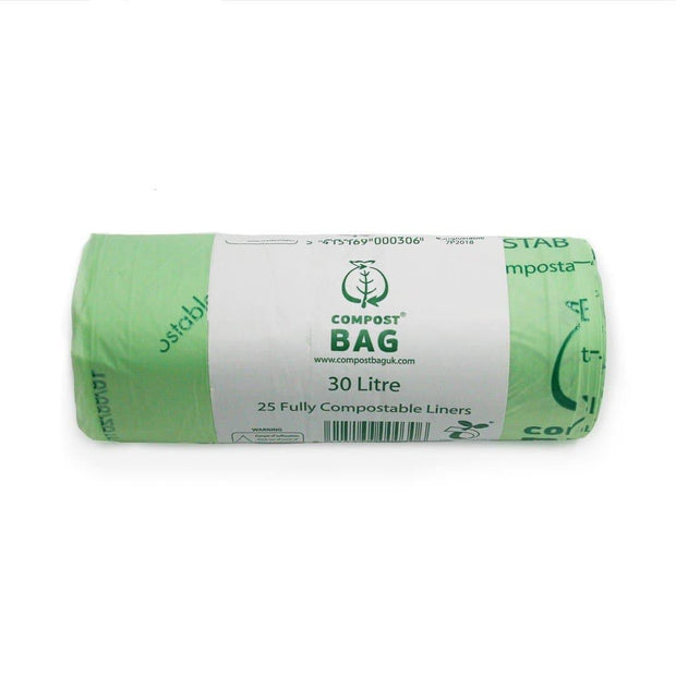 Compostable Biodegradable Bin Liners 30 Litres (25 Bags)