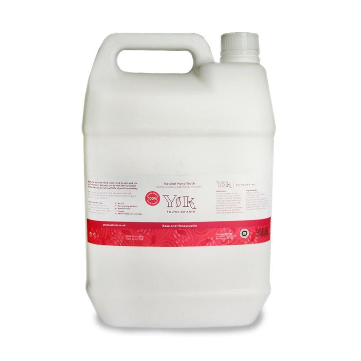 Rose and Honeysuckle Hand Wash - 5 litre refill