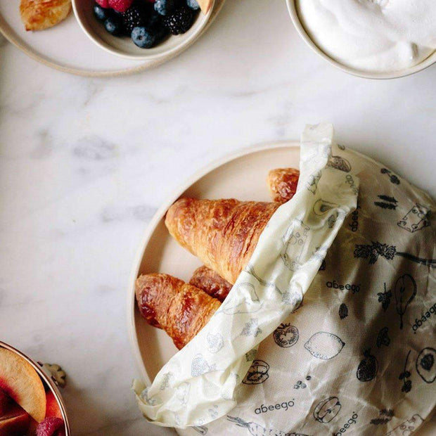 Abeego beeswax wrap covering pastries