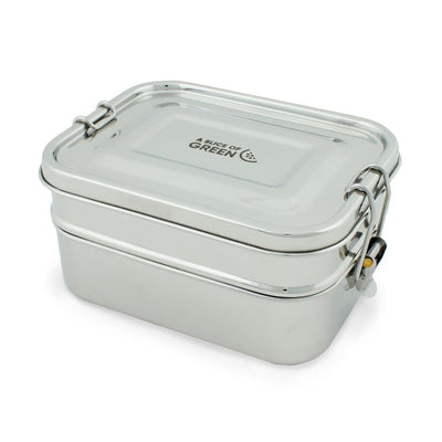 Stainless Steel Two Tier Lunch Box