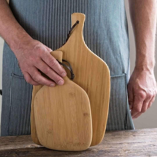 Bambu Artisan Cutting & Serving Board size comparison
