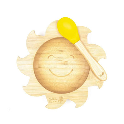 Eco friendly Bamboo Sunshine Bowl and Spoon Set - EcoVibe