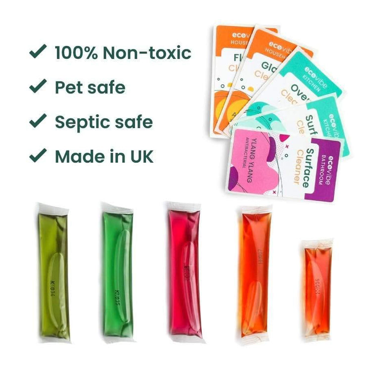 Antibacterial Plastic-Free Water Soluble Cleaning Sachets