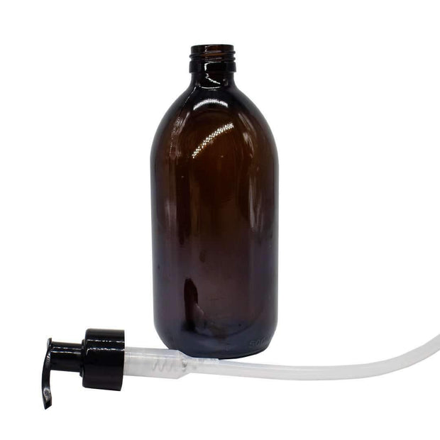 500ml Amber Glass Bottle with Liquid Pump