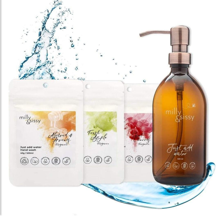 Vegan Hand Wash - Trio Set with Glass Bottle