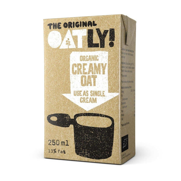 oatly, creamy oat use as single cream, dairy-free,