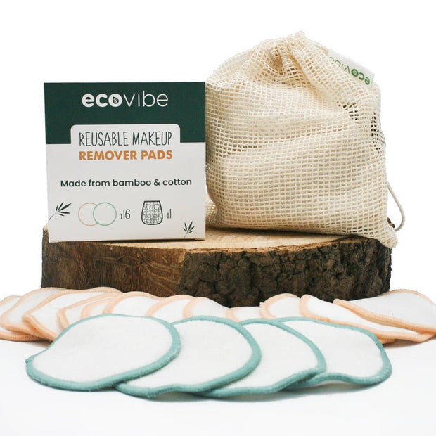 Reusable Makeup Remover Pads with Glass Jar