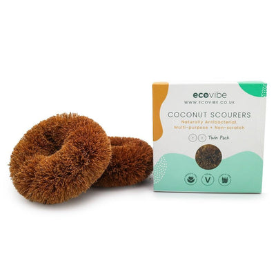 Coconut Fibre Scourers (Twin Pack) - EcoVibe