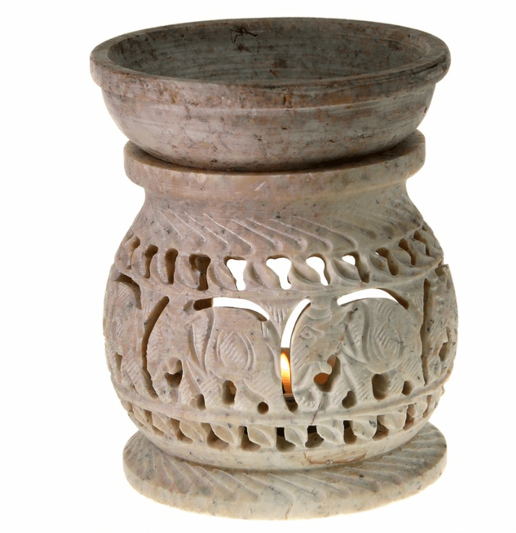 Hand Carved Stone Oil Burner