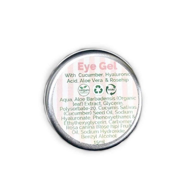 Green Planet Beauty Eye Gel - Hyaluronic Acid, Cucumber and Aloe Vera (15ml)