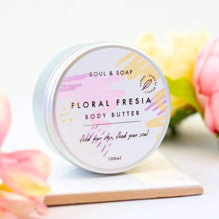 Soul and Soap Body Butter - Floral Freesia (100ml)
