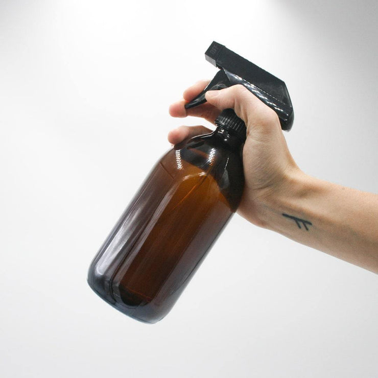 Glass Spray Bottle - Amber (500ml)