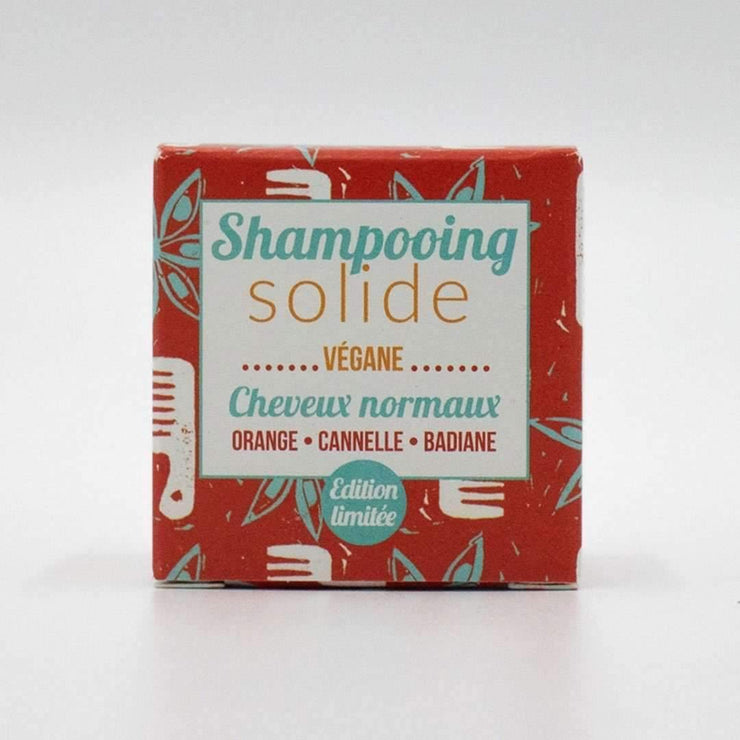 Lamazuna Normal Hair Shampoo Bar - Orange, Cinnamon & Star Anise (55g)