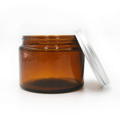 Reusable Glass Jar - Amber (500ml)