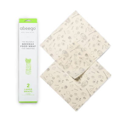 Abeego Reusable Beeswax Food Wraps - Large