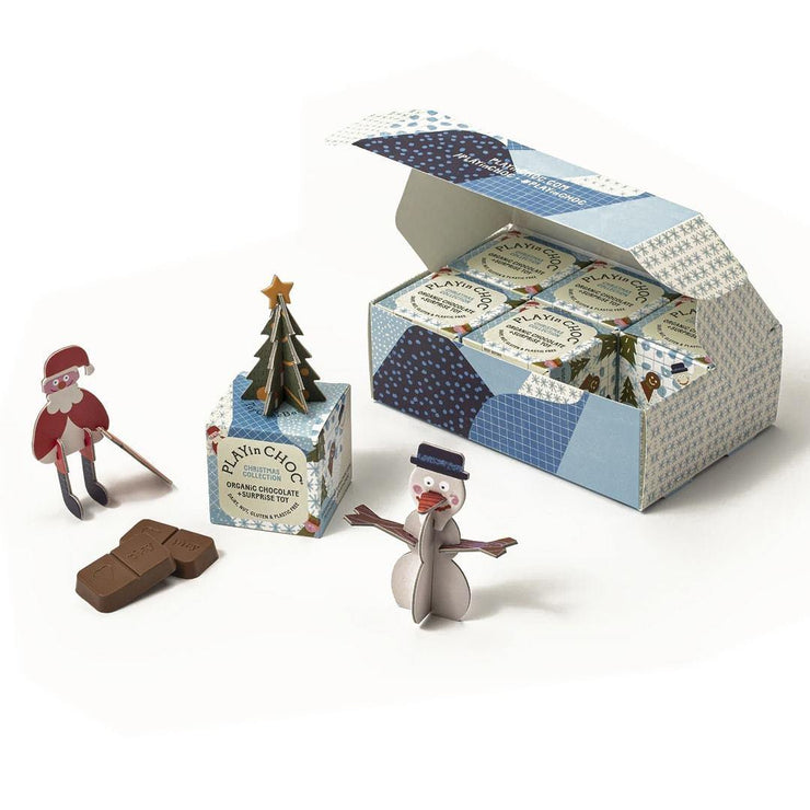 Vegan Christmas Chocolate Toy Box - Set of 6