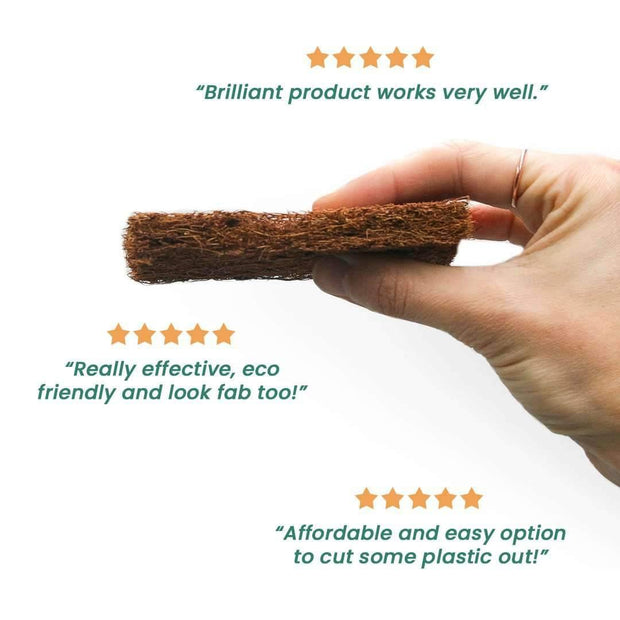 5 Pack of Durable Coconut Fibre Scrub Pads