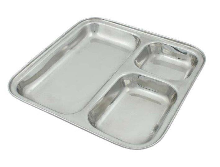 Stainless Steel Divided Serving Plate
