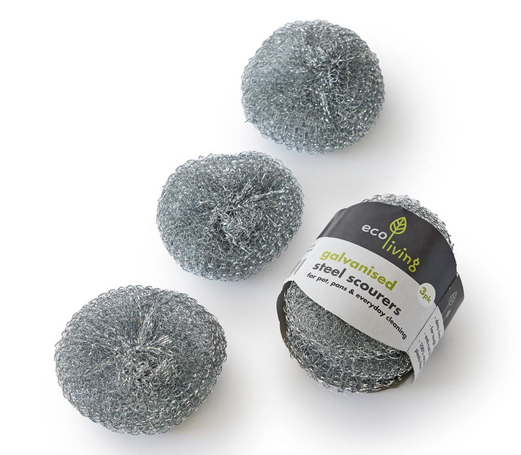 Galvanised Steel Scourers - Set of 3