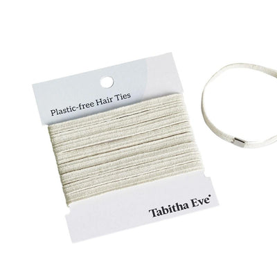 Plastic Free Hair Ties Pack of 8 - Cream - EcoVibe