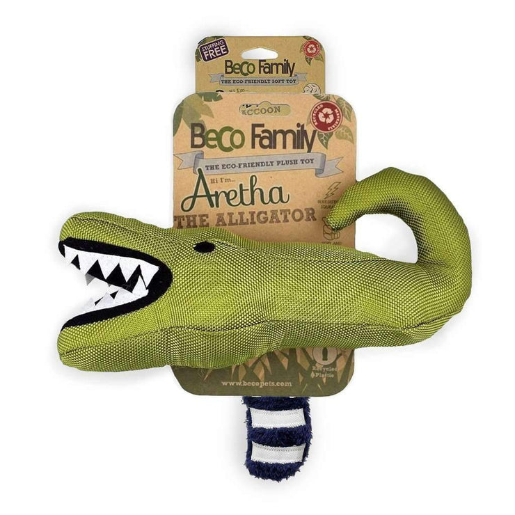 Beco Soft Dog Toy - Aretha the Alligator