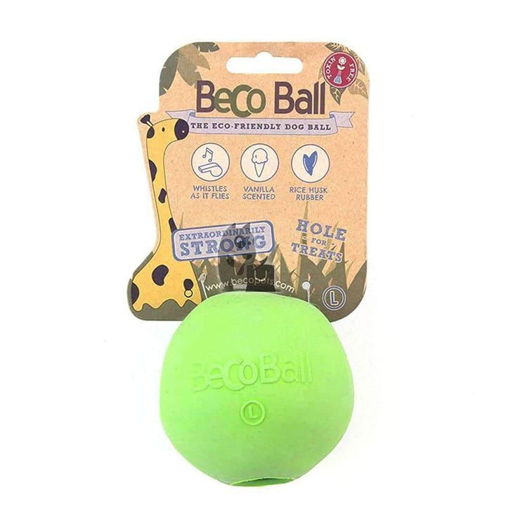 Natural Rubber Dog Ball Green - Large