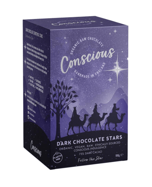 Conscious Chocolate Dark Chocolate Stars