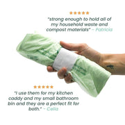 Biodegradable Compostable Bin Liners - 7 Litre - 52 Bags