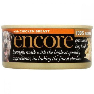Encore premium dog food with chicken breast 156 grams.
