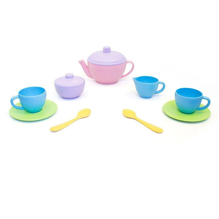 Childrens tea set made of recycled plastic, Green Toys.