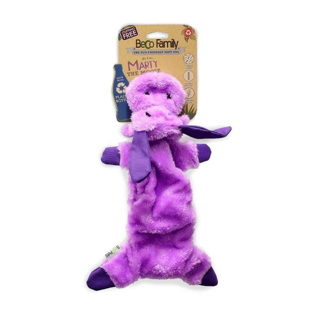 Stuffing Free Dog Toy - Marty the Moose
