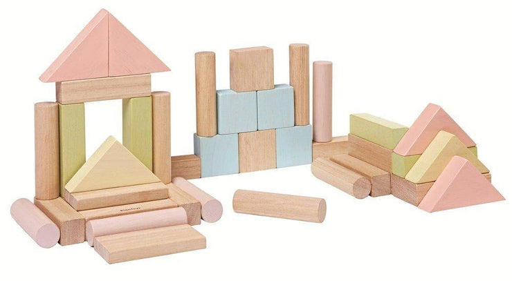 Plan Toys Colourful Pastel 40 Blocks