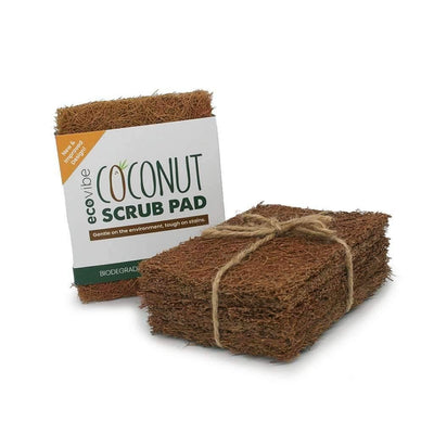 EcoVibe Durable Coconut Fibre Scrub Pads (5 Pack)