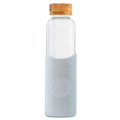 Reusable Glass Water Bottle - Grey