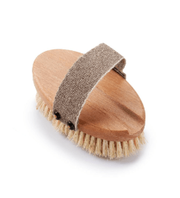 Wooden Bath Brush with a Replaceable Head