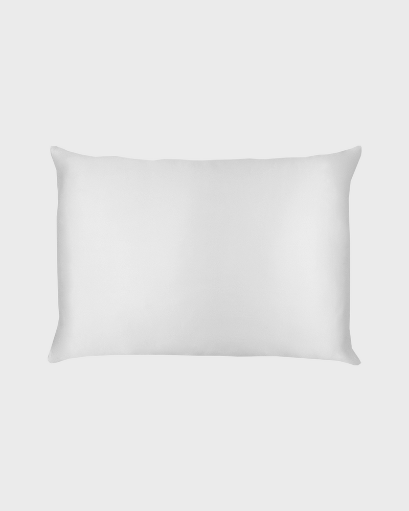 Grey Silk Pillow Case
