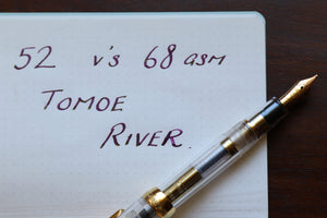 Tomoe River Paper comparison – 52 v's 68 GSM
