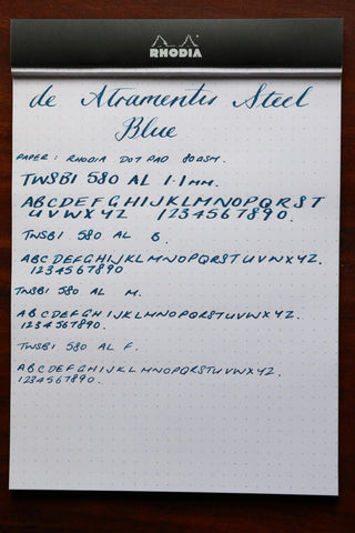 De Atramentis Steel Blue Pebble Stationery Co Rhodia