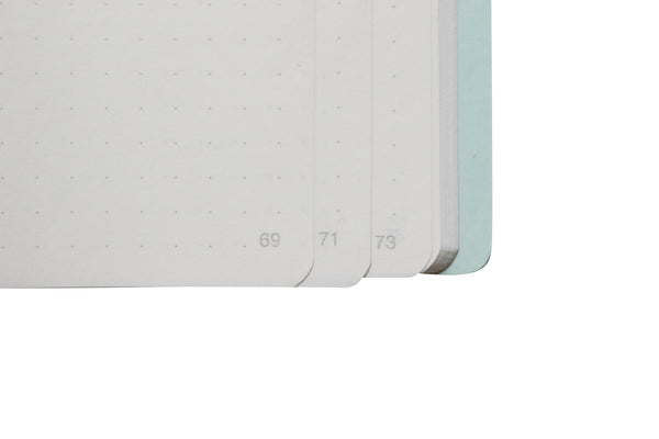Pebble Stationery Co A5 Cahier Tomoe River Notebook Page Numbers