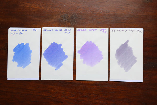Pebble Stationery Co Sailor Kobe Hime Ajisai # 57 Swatches