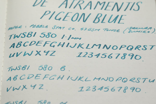 Pebble Stationery Co De Atramentis Pigeon Blue