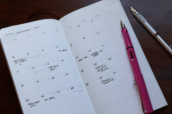 Pebble Stationery Co Planner set up 2 months in
