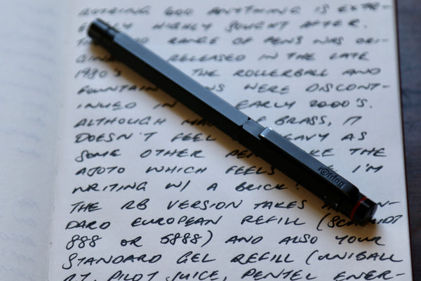 Pebble Stationery Co Rotring 600 Newton Rollerball